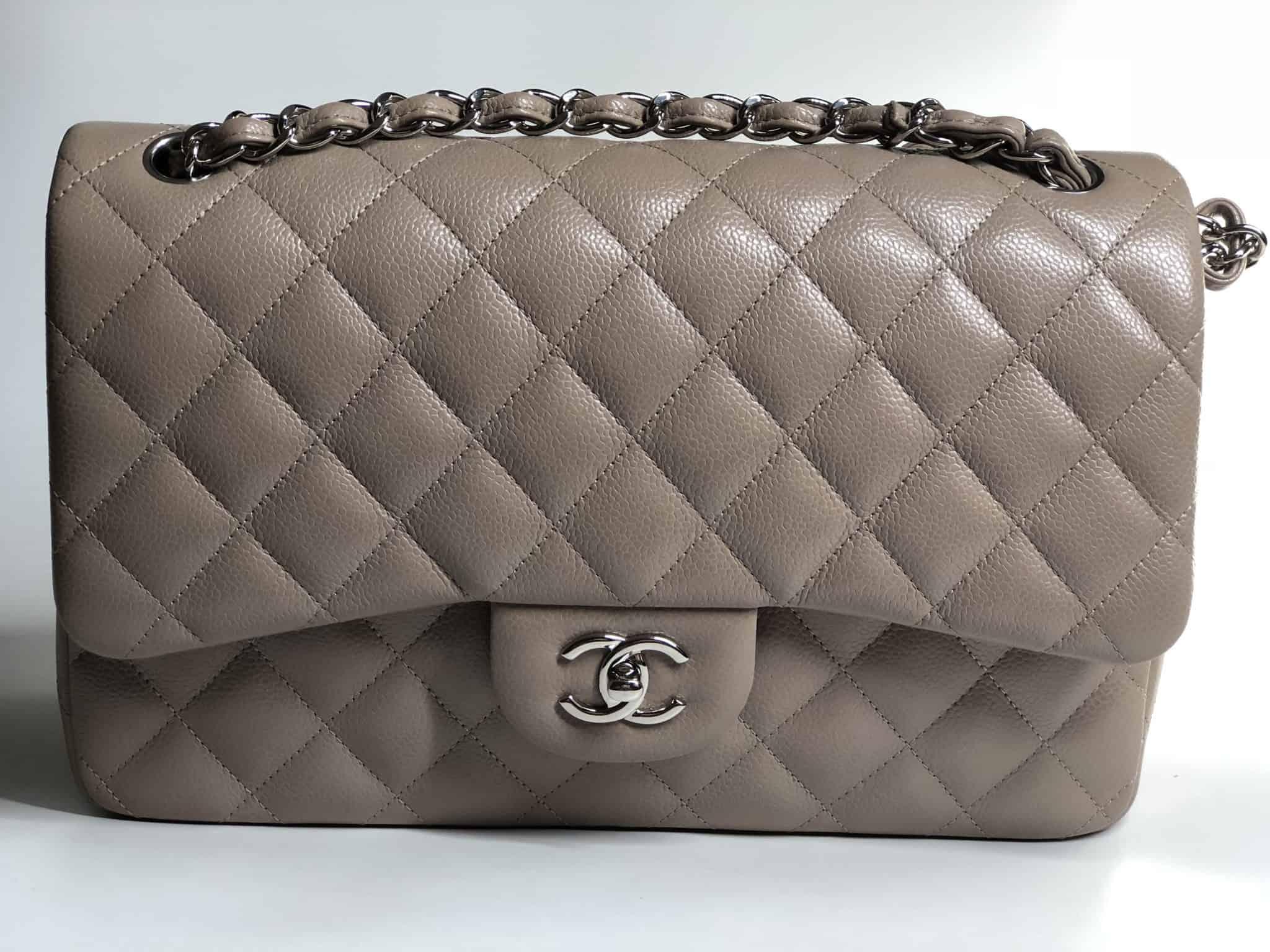 d56ebd13e815 Chanel 14B Beige Taupe Jumbo Double Flap Bag brand new kept unused ...